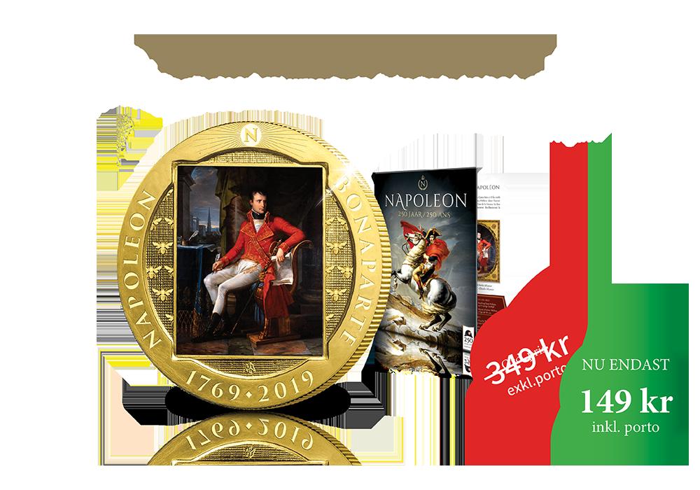 Just nu Napoleon jubileumsmynt - endast 149 kr