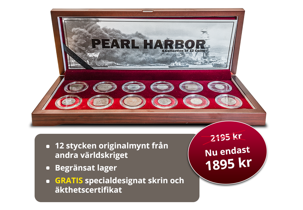 Sista chansen: Originalmynt från andra världs kriget - nu med 300 kr i rabatt!