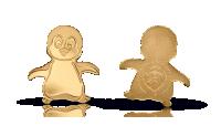 Mynt i hela 99,9 % guld i form av en pingvin