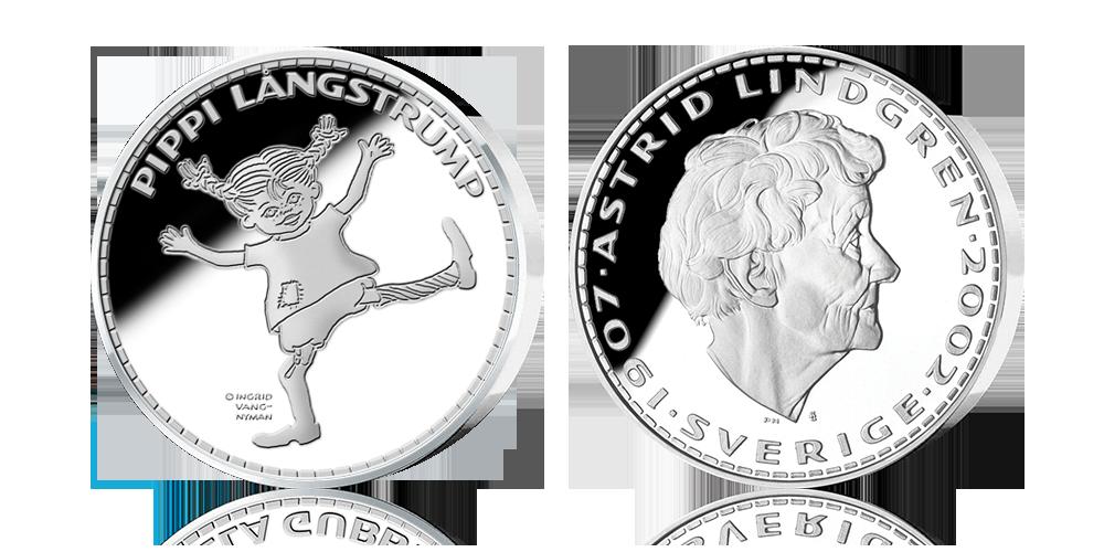 Pippi Långstrump firas med silvermedaljer!
