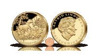 Gigantmedalj präglad i koppar och belagd med 24 karat guld, hela 88,7 mm i diameter och väger 400 gram. Motivet är hämtat från en av Ingrid Vang Nymans klassiska Pippiillustrationer.