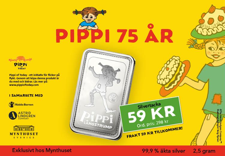 Pippi fyller 75 år
