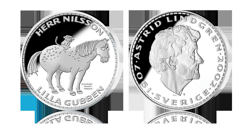 Herr Nilsson och Lilla Gubben-medalj i 92,5 % silver