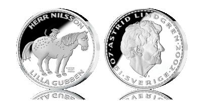 Pippi Långstrumps silvermedaljer - motiv från Pippis fantastiska värld