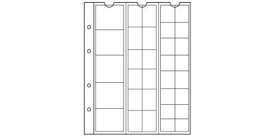 Plastfickor olika storlekar NH33 5-pack