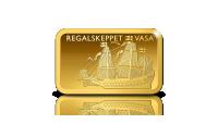 Regalskeppet Vasa på en 5 g guldtacka