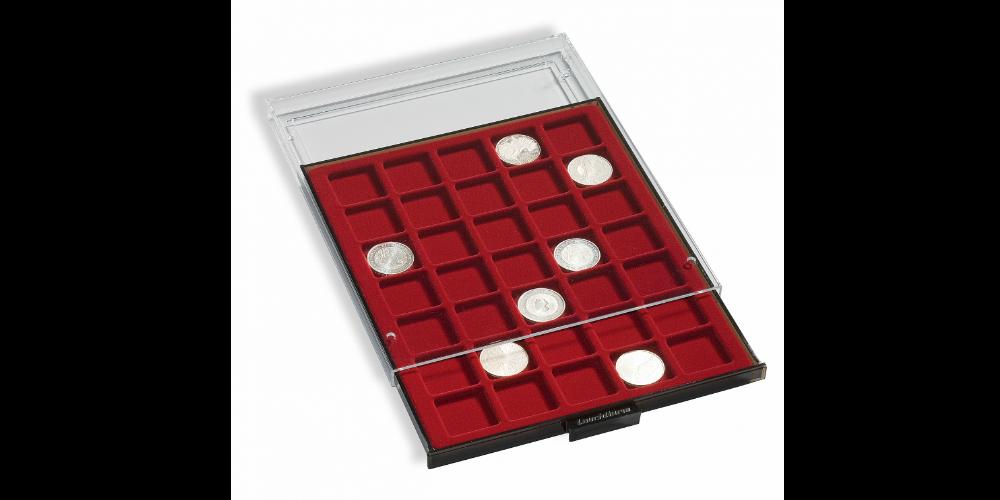 myntlåda med plats för 20 mynthållare