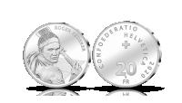 Roger Federer silvermynt