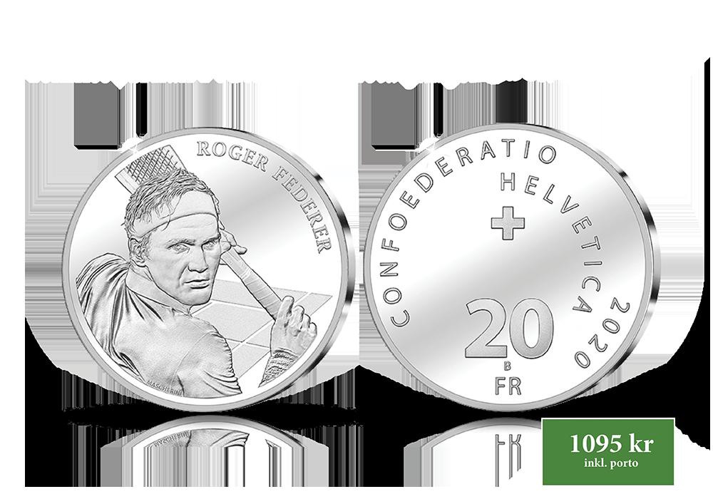 Tennisstjärnan Federer för första gången på ett francmynt!