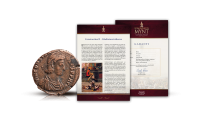 Romarikets Mynt äkthetscertifikat