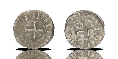 Silver denier 1285-1314 -Knights templar