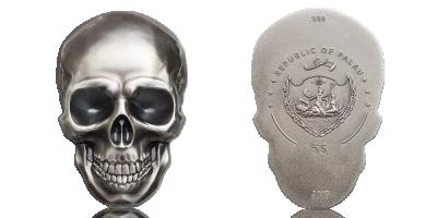 Silver dödskalle