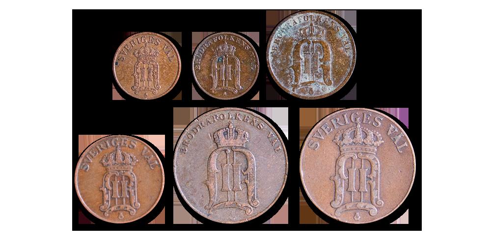 Exclusiv utgåva från Oscar II: s tid – över 100 år gamla mynt (1872-1907)!