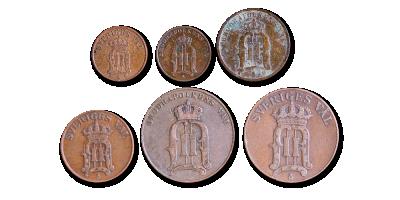 Oscar II 1872-1907 myntset
