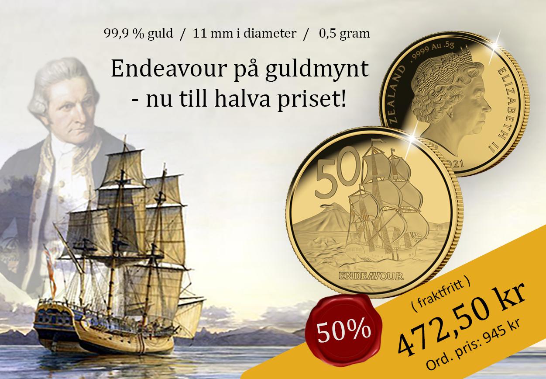 Världens minsta guldmynt - Endeavour