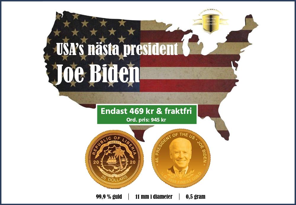 Världens minsta guldmynt - Joe Biden