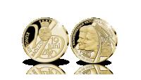 Exklusiv juileumsmedalj präglad i 24 karat guld för att hedra kronprinsessparets 10-åriga bröllopsdag